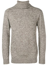 Circolo 1901 Roll Neck Fitted Sweater Brown