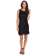 Jessica Simpson 10Th Ann Tier Sequin Black Women's Dress