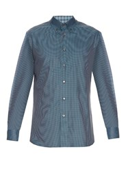 Brioni Micro Checked Cotton Shirt