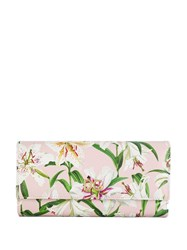 Dolce And Gabbana Lilium Print Continental Wallet Pink