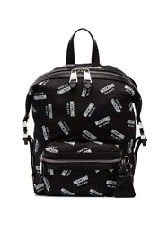 Moschino All Over Logo Backpack Black