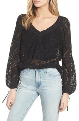 Hinge Lace Top Black