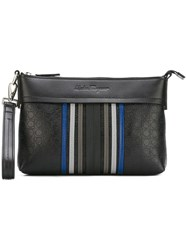 Salvatore Ferragamo Deco Clutch Black