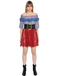 Philosophy Di Lorenzo Serafini Off The Shoulder Ruffled Lace Dress