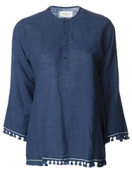 Dosa Tassel Kurta Top Blue