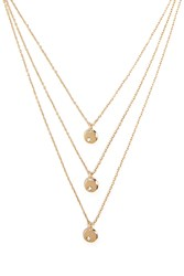 Forever 21 Flat Circle Layered Necklace