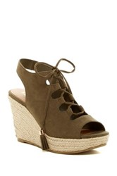 Report Daryll Lace Platform Wedge Green