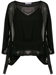 Mara Mac Sheer Blouse Black