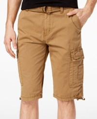 Ring Of Fire Men's Delano Messenger Cargo Shorts Created For Macy's Dull Gold