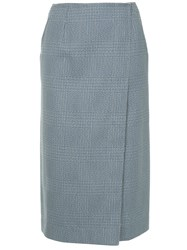 Calvin Klein 205W39nyc Plaid Skirt Grey