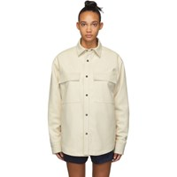 Fear Of God Off White Faux Suede Shirt