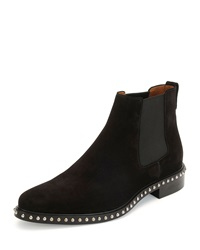 Studded Suede Chelsea Boot Black Givenchy