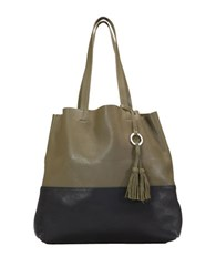 Sanctuary Drifter Ii Leather Tote Olive Black