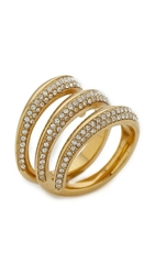 Michael Kors Statement Ring Gold Clear