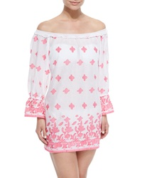 Miguelina Josie Printed Off The Shoulder Coverup