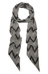 Women's Sole Society Abstract Print Skinny Scarf Black