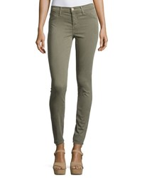 J Brand 485 Luxe Sateen Mid Rise Skinny Pants Gray