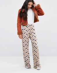 Pepe Jeans Philo Printed Palazzo Trousers Mousse Multi