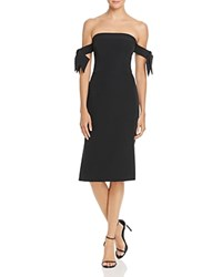 Milly Brit Off The Shoulder Dress Black