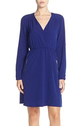 Women's Kut From The Kloth Crepe De Chine Faux Wrap Dress