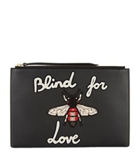 Gucci Blind For Love Bee Pouch Female Black