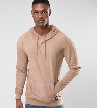 Sixth June Hoodie In Stone Suedette Exclusive To Asos