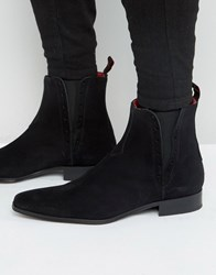 Jeffery West Yardbird Suede Chelsea Boots Black