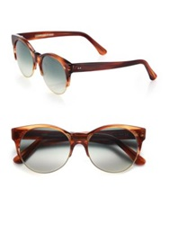 Cutler And Gross Half Rim 52Mm Cat's Eye Sunglasses Dark Turtle