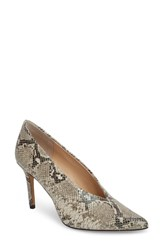 Vince Camuto Ankia Suede Pump Natural Leather