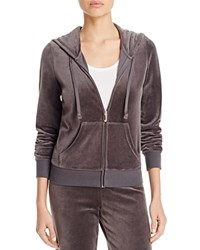 Juicy Couture Black Label Robertson Velour Zip Hoodie 100 Bloomingdale's Exclusive Top Hat Grey