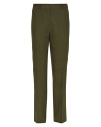 Jaeger Parallel Linen Trousers Green