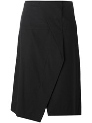 Marc By Marc Jacobs Crossover Front Asymmetric Skirt Black