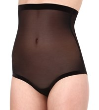 Wolford Tulle Control High Waist Briefs Black