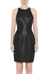 French Connection Women's Canterbury Faux Leather Sheath Dress