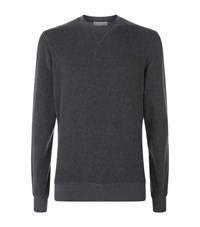Orlebar Brown Pierce Towelling Sweatshirt Male Dark Grey