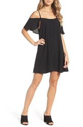 Mary And Mabel Women's Cold Shoulder Swing Dress Black