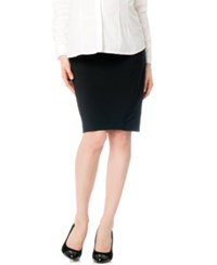 A Pea In The Pod Maternity Striped Pencil Skirt Black