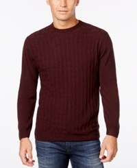Weatherproof Vintage Men's Big And Tall Crew Neck Sweater Only At Macy's Bordeaux
