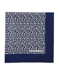 Turnbull And Asser Tire Tred Pocket Square Navy