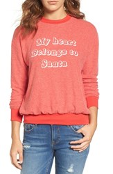 Project Social T Women's My Heart Belongs To Santa Graphic Pullover