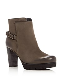 Paul Green Darcy Chain Platform Booties Quartz Gray