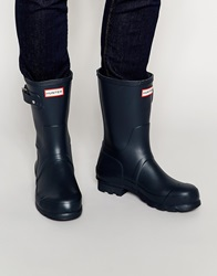Hunter Original Short Wellies Blue