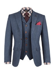 Gibson Men's Blue Herringbone Jacket Blue