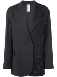 Antonio Marras Patched Lace Blazer Black