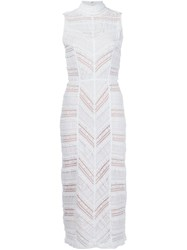 Cinq A Sept Panelled Fitted Dress White