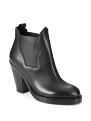 Acne Studios Star Stretchy Leather Ankle Boots Natural Black