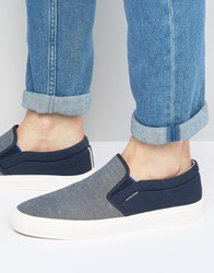 Jack And Jones Rush Slip On Plimsolls Navy