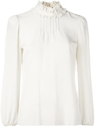 Red Valentino Ruffle Collar Blouse White