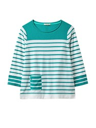 White Stuff Heron Stripe Jumper Green