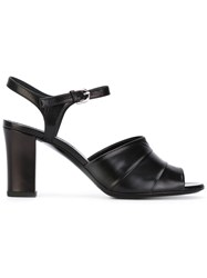 Jil Sander Wide Strap Sandals Women Leather Kid Leather 38 Black